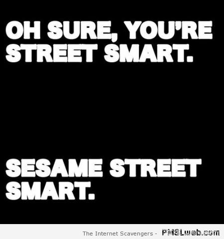 You're Sesame street smart quote – Weekend lolz at PMSLweb.com