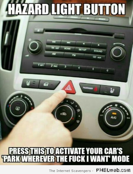 Hazard light button meme at PMSLweb.com