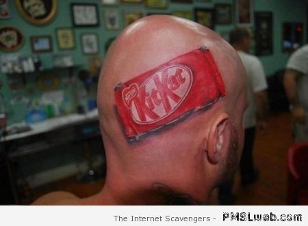Kitkat head tattoo at PMSLweb.com