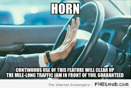 Car horn meme at PMSLweb.com