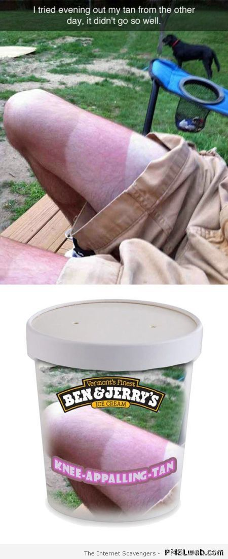 ben & Jerry's knee tan flavor at PMSLweb.com