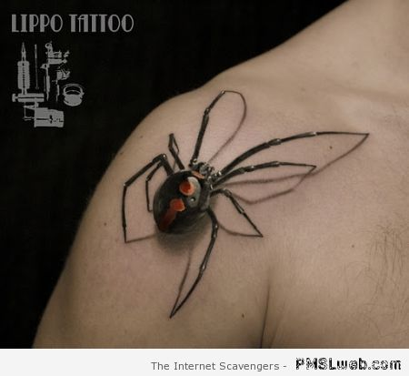 Incredible redback tattoo at PMSLweb.com