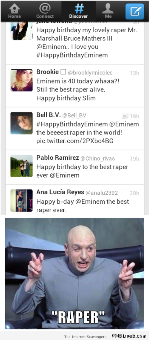 Eminem is a raper fail at PMSLweb.com