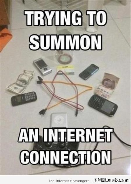 Trying to summon an internet connection at PMSLweb.com