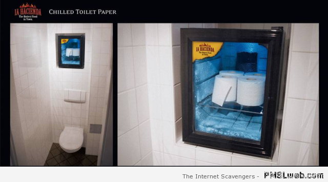 Chilled toilet paper – LOL pics at PMSLweb.com