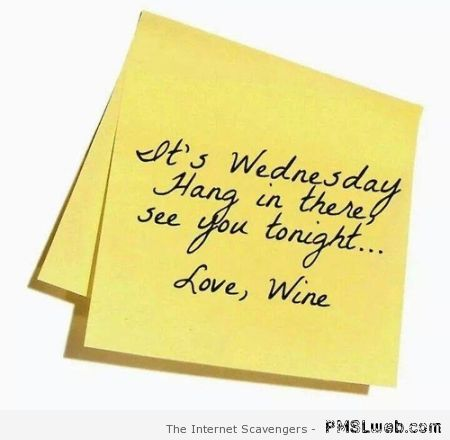 It's Wednesday funny post-it at PMSLweb.com