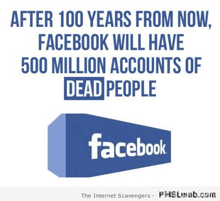 Facebook in a hundred years from now at PMSLweb.com