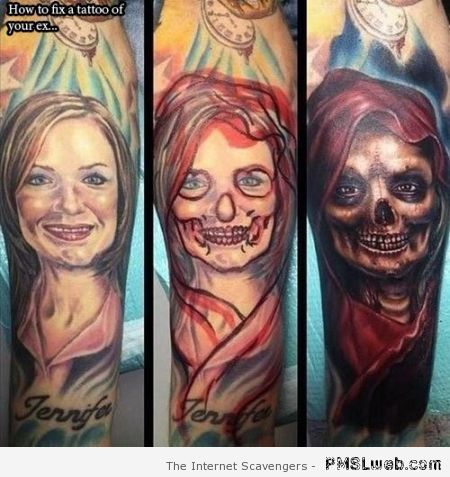 Fixing tattoo of your ex at PMSLweb.com