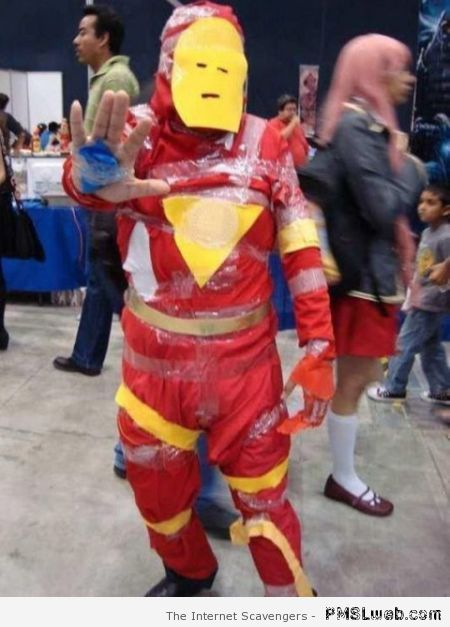 Iron man costume fail at PMSLweb.com