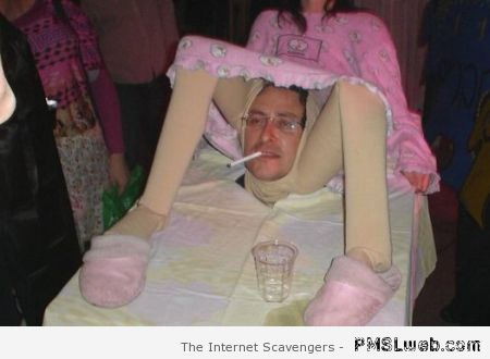 Giving birth costume fail at PMSLweb.com