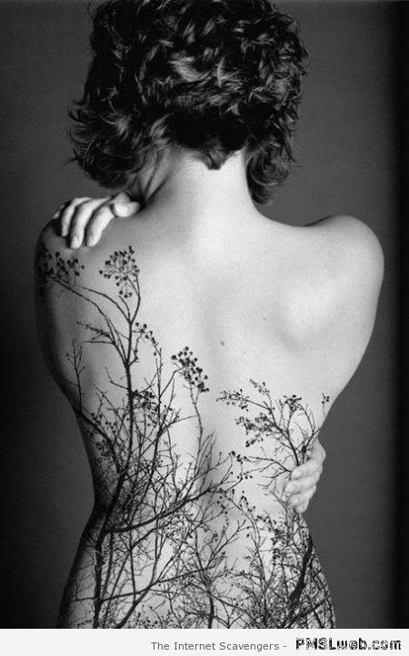 Beautiful back tattoo at PMSLweb.com