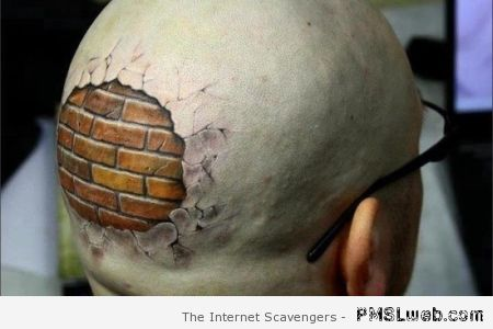 Interesting back of head tattoo – Best and worst tattoos at PMSLweb.com