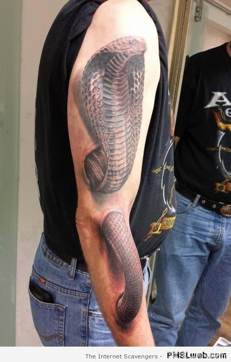Amazing snake tattoo at PMSLweb.com