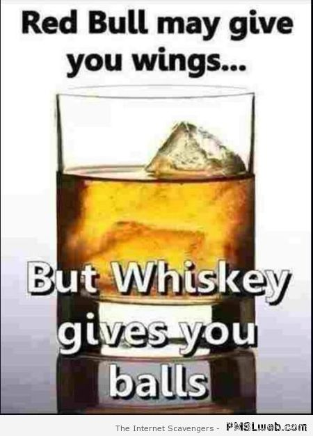 Whiskey gives you balls – Hump day humour at PMSLweb.com