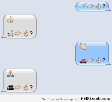 Funny emoticon texting at PMSLweb.com