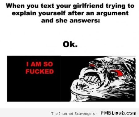 Argument with your girlfriend humor – LMAO pictures at PMSLweb.com