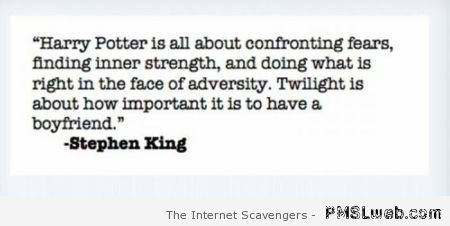 Stephen King about Twilight quote at PMSLweb.com