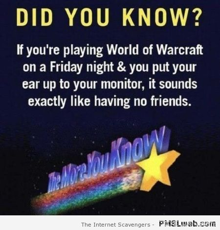 Funny did you know at PMSLweb.com