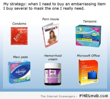 Strategy for buying an embarrassing item at PMSLweb.com