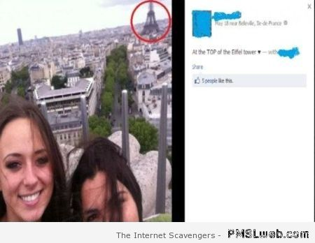 Eiffel tower status fail – Amusing pictures at PMSLweb.com