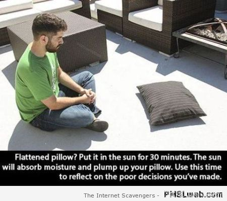 Funny pillow advice at PMSLweb.com