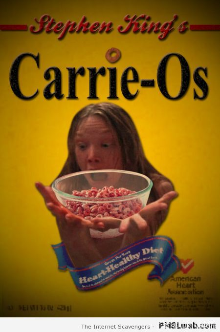 Funny Stephen King cereals at PMSLweb.com