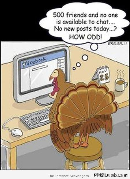 Funny turkey on Facebook at PMSLweb.com