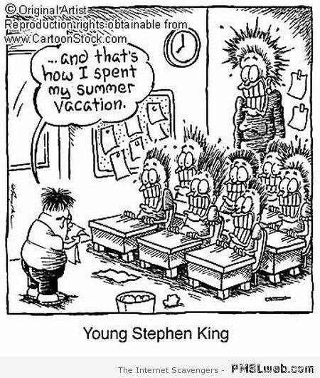 Funny Young Stephen King at PMSLweb.com