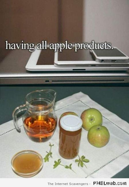 Having all Apple products meme at PMSLweb.com