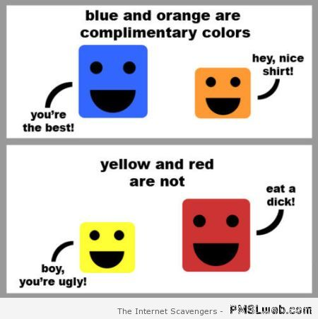 Complementary colors humor – ROFL pictures at PMSLweb.com