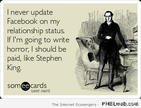 Stephen King Facebook funny at PMSLweb.com