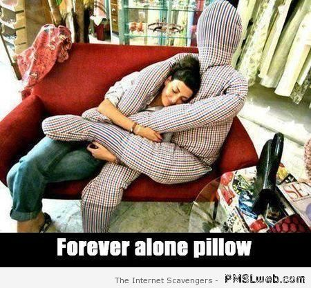 Forever alone pillow at PMSLweb.com
