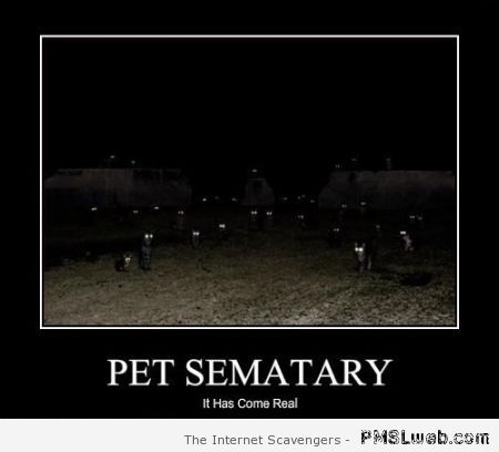 Pet sematary demotivational – Stephen King humor at PMSLweb.com