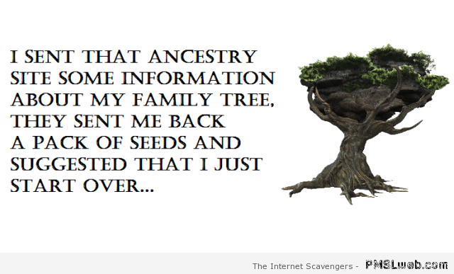 Funny ancestry site picture at PMSLweb.com