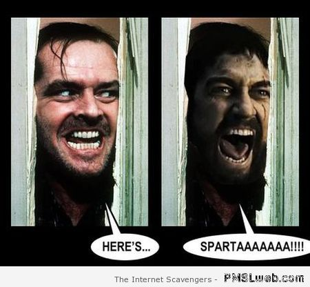 The Shining here's Sparta at PMSLweb.com