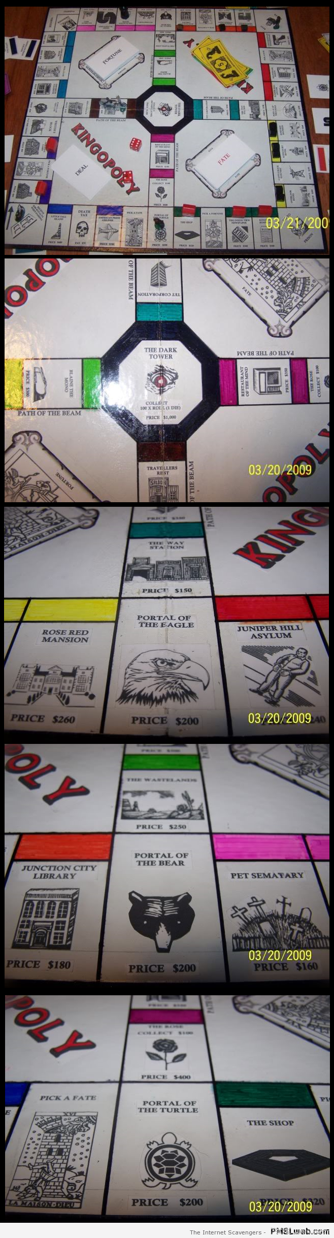 Stephen King monopoly at PMSLweb.com