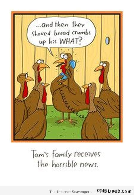 Funny Thanksgiving turkey humor at PMSLweb.com