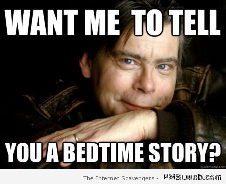 Stephen King meme at PMSLweb.com