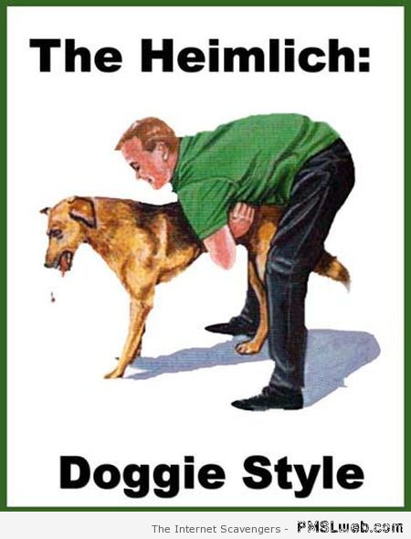 Heimlich doggies style at PMSLweb.com