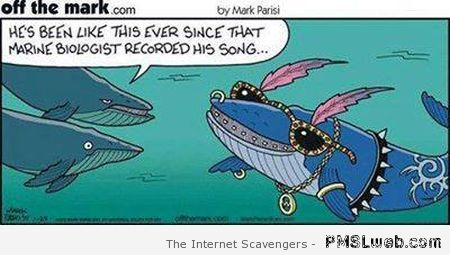 Funny whale cartoon at PMSLweb.com