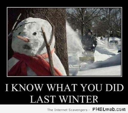 I know what you did last winter funny at PMSLweb.com