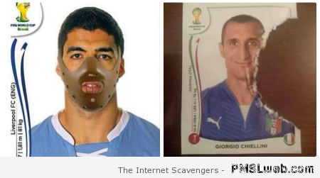 Suarez Panini sticker – Funny Football pictures at PMSLweb.com
