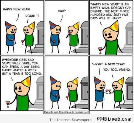 Happy New Year cartoon at PMSLweb.com