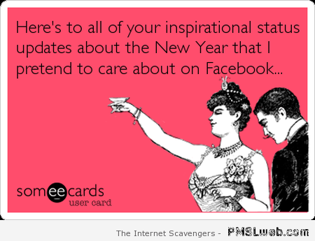 Inspirational  New Year statuses on facebook ecard at PMSLweb.com