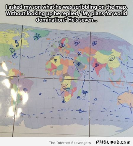 My son's world domination meme at PMSLweb.com