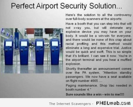 Perfect airport security solution at PMSLweb.com
