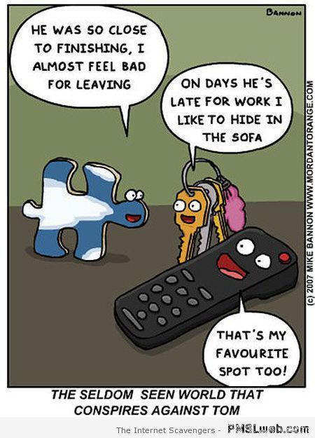 Funny conspiracy cartoon at PMSLweb.com