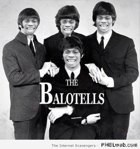 Balotelli and the Beatles – Funny Football pictures at PMSLweb.com