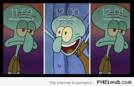 Funny squidward New year at PMSLweb.com
