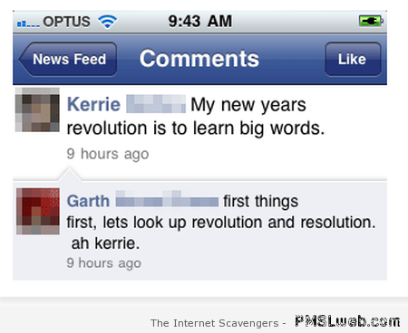 Facebook New Year fail at PMSLweb.com